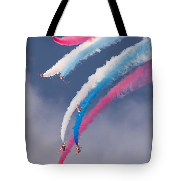 Red Arrows Display Tote Bag by Colin Rayner