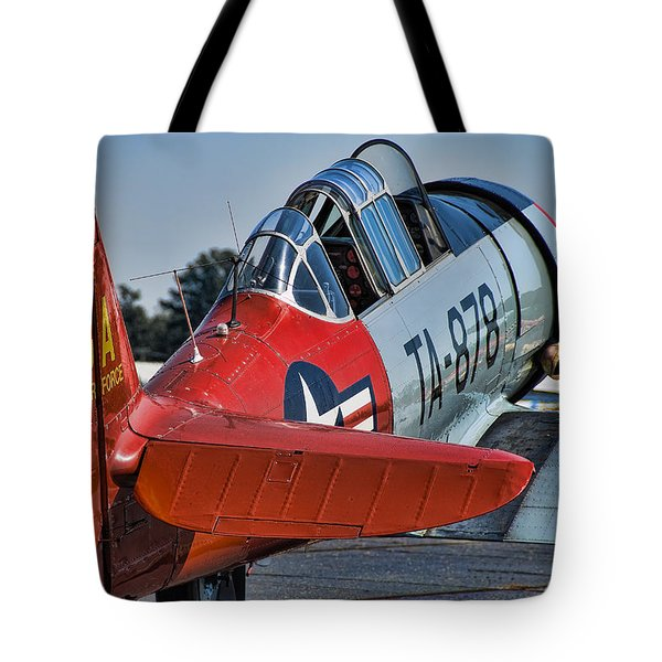 Red At-6 Tote Bag
