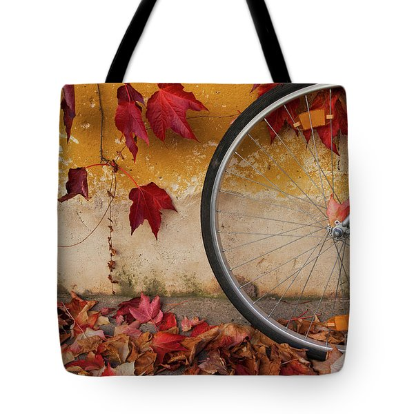Red Autumn Tote Bag by Yuri Santin