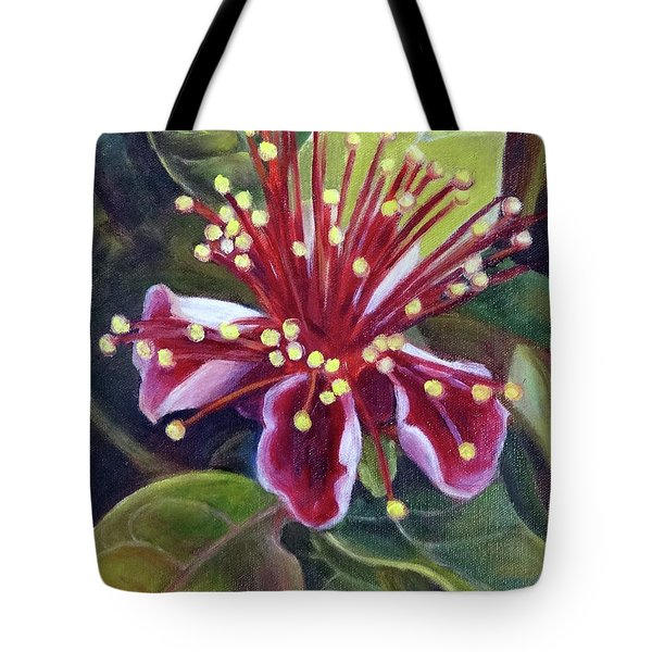 Pineapple Guava Flower Tote Bag