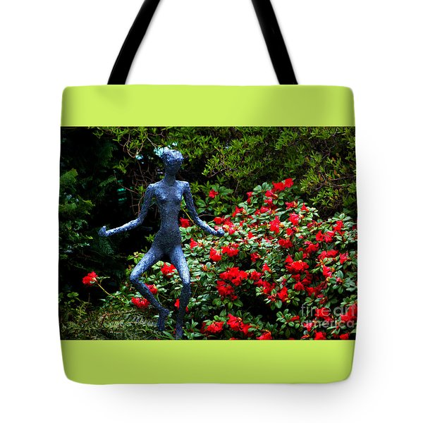 Tote Bag featuring the photograph Red Azalea Lady by Susanne Van Hulst