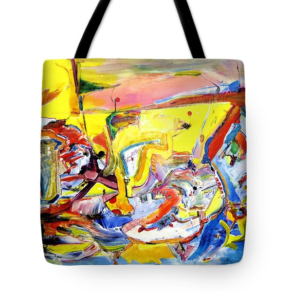 Red Baloon Exit, Vision Quest Highway, Arizona Tote Bag