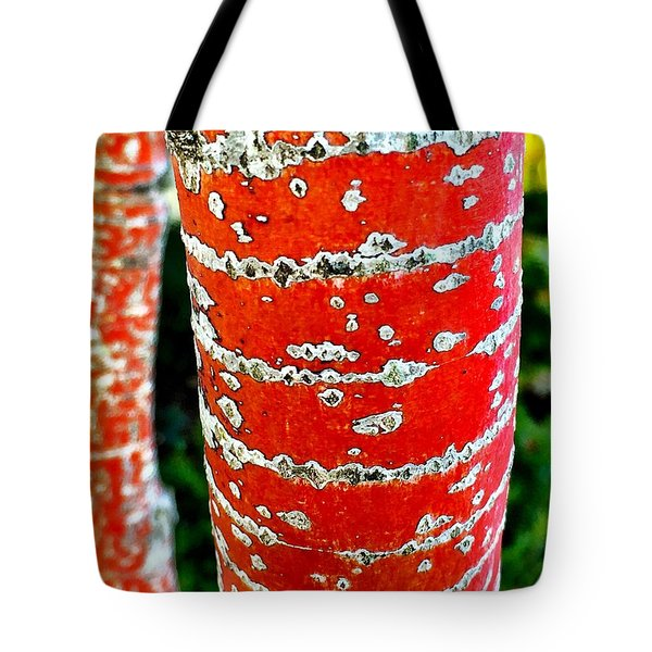 Red Bark Birch Tote Bag