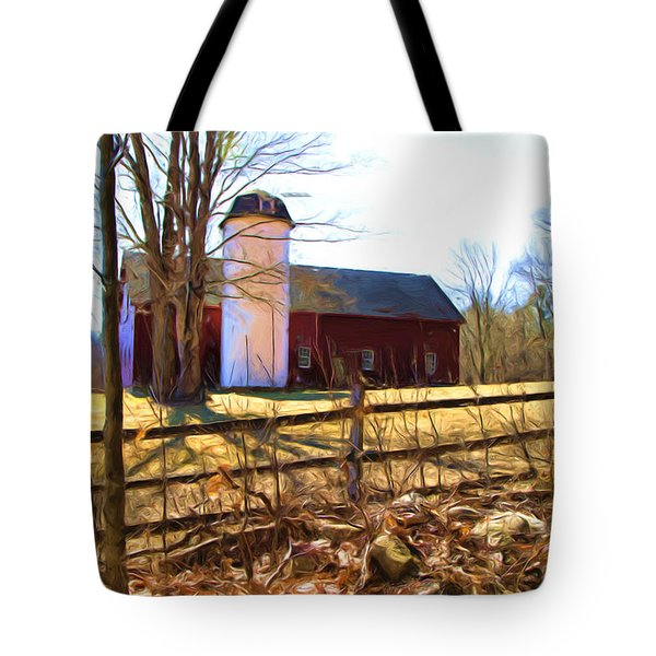 Red Barn And Silo  Tote Bag