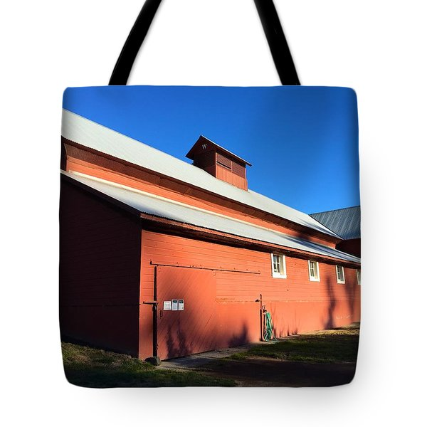Red Barn, Blue Sky Tote Bag