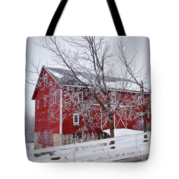 Red Barn Circa 1876 Tote Bag by Sue Stefanowicz