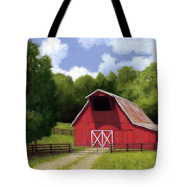 Red Barn In Franklin Tn Tote Bag