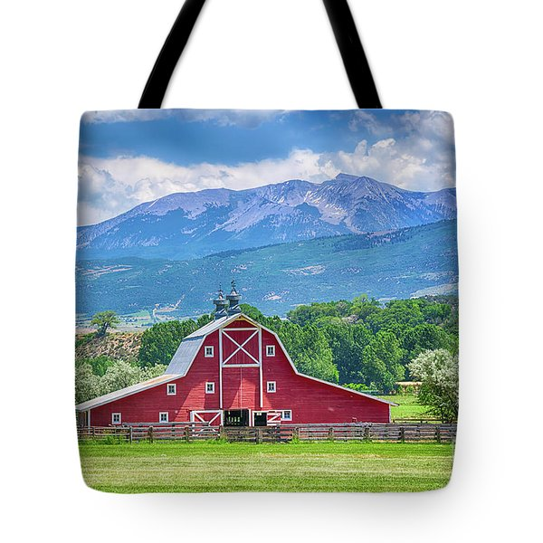 Red Barn In Paonia Colorado Tote Bag