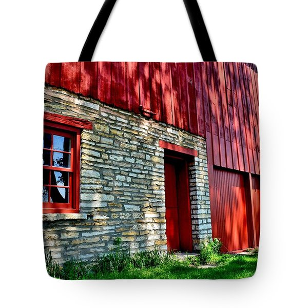 Red Barn In The Shade Tote Bag