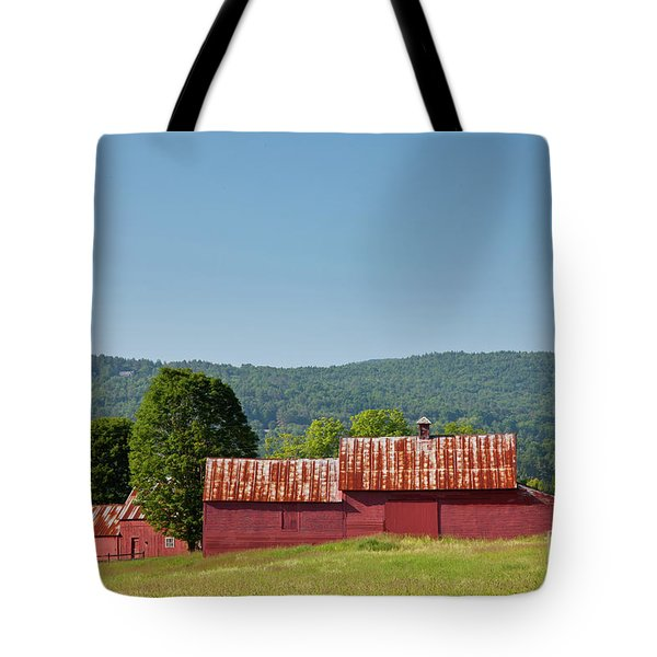 Tote Bag featuring the photograph Red Barn Near Quechee by Susan Cole Kelly