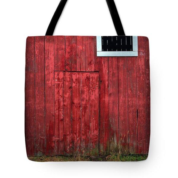 Red Barn Wall Tote Bag by Steve Gadomski