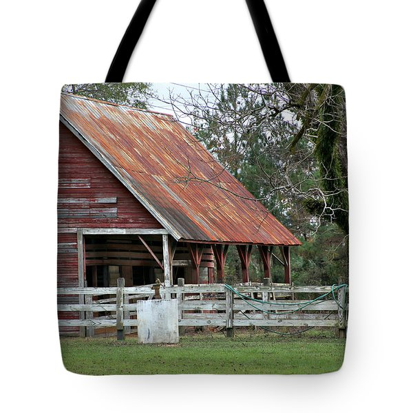 Red Barn With A Rin Roof Tote Bag