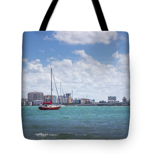 Red Baron On Sarasota Bay Tote Bag