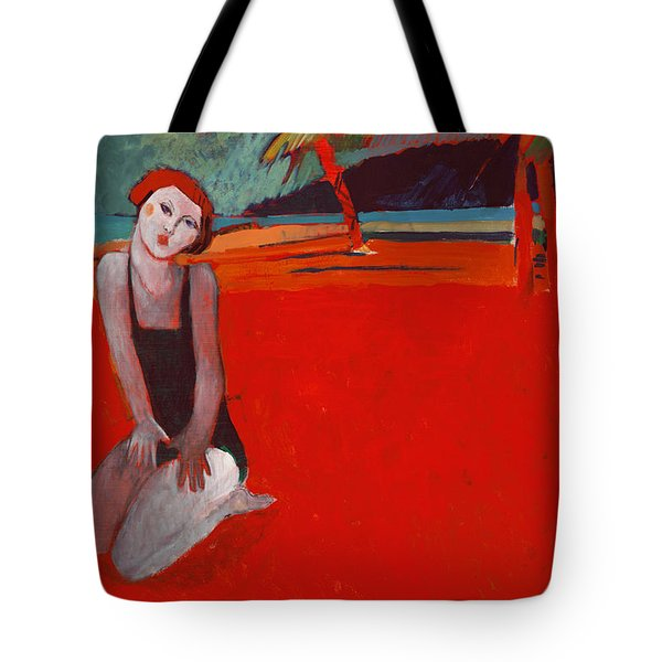 Red Beach Two Tote Bag