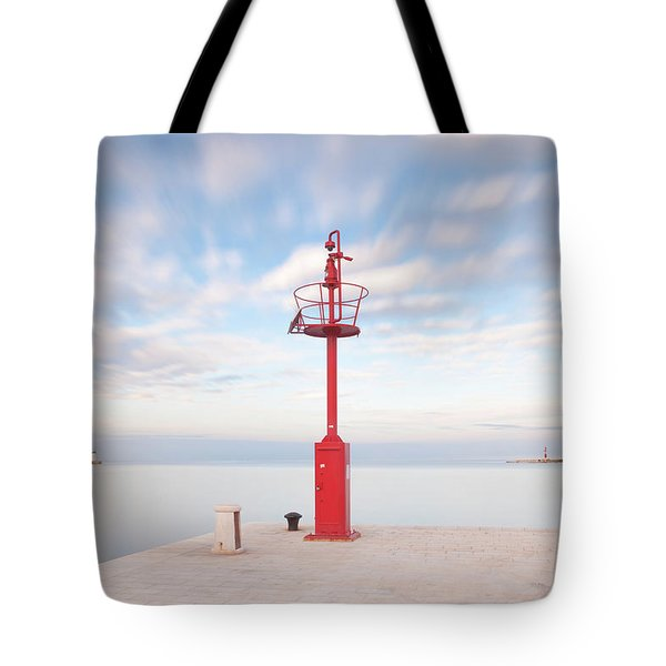 Tote Bag featuring the photograph Red Beacon by Davor Zerjav