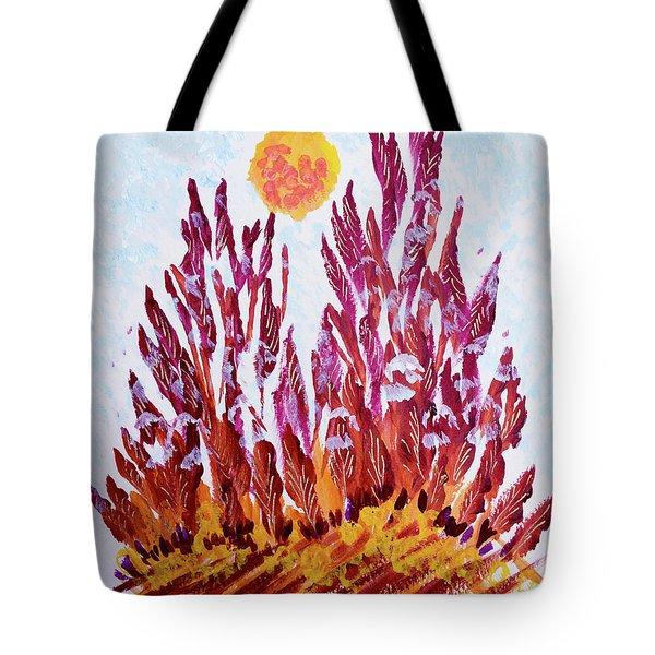Red Beauties In The Garden Tote Bag
