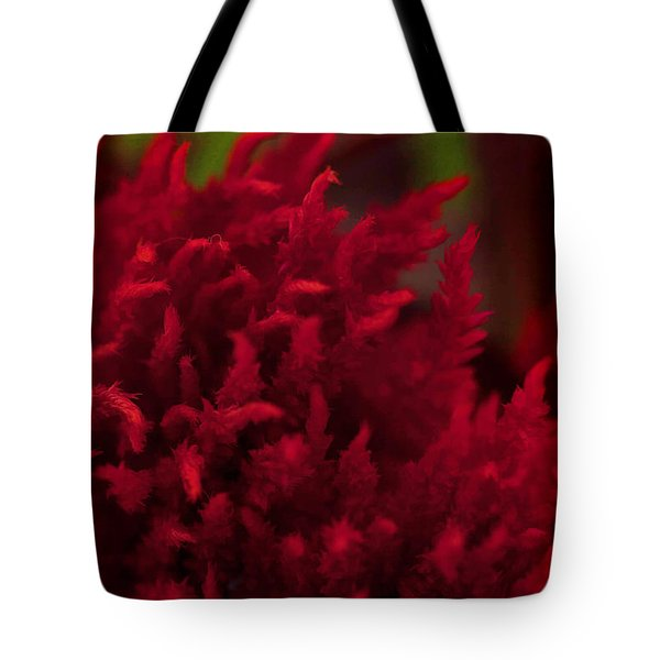 Red Beauty Tote Bag by Cherie Duran