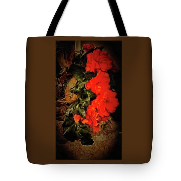Tote Bag featuring the photograph Red Begonias by Thom Zehrfeld