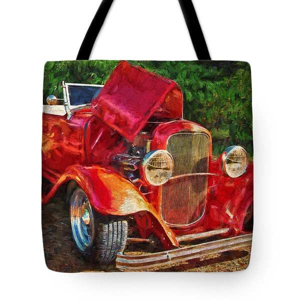 The Red Bell Roadster Tote Bag