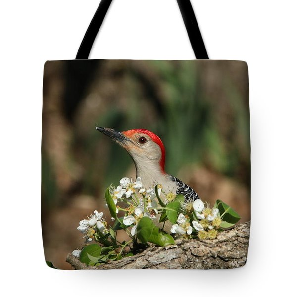 Red-bellied Woodpecker In Spring Tote Bag