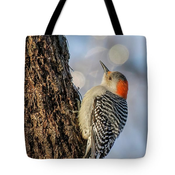 Red-bellied Woodpecker Tote Bag by Irwin Seidman