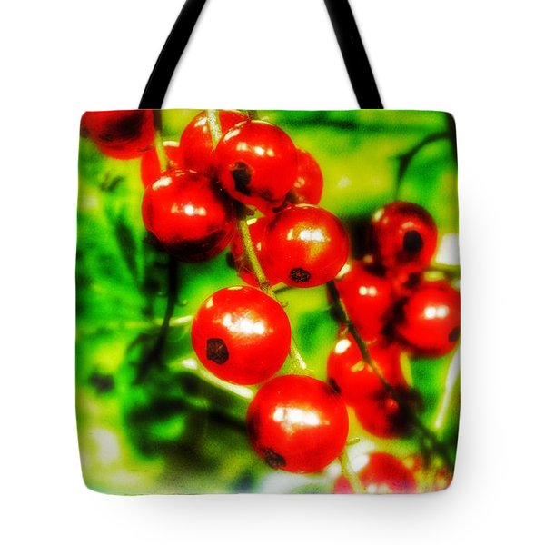 Tote Bag featuring the photograph Red Berries by Isabella F Abbie Shores FRSA