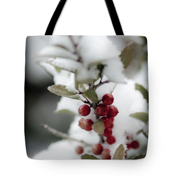 Red Berries Tote Bag by Jill Smith