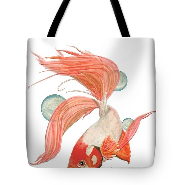Red Beta Fish Tote Bag