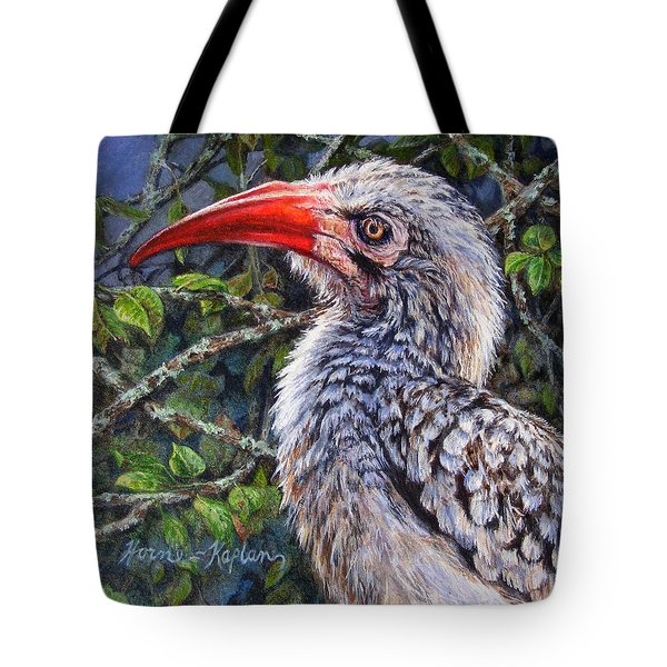 Red Billed Hornbill Tote Bag