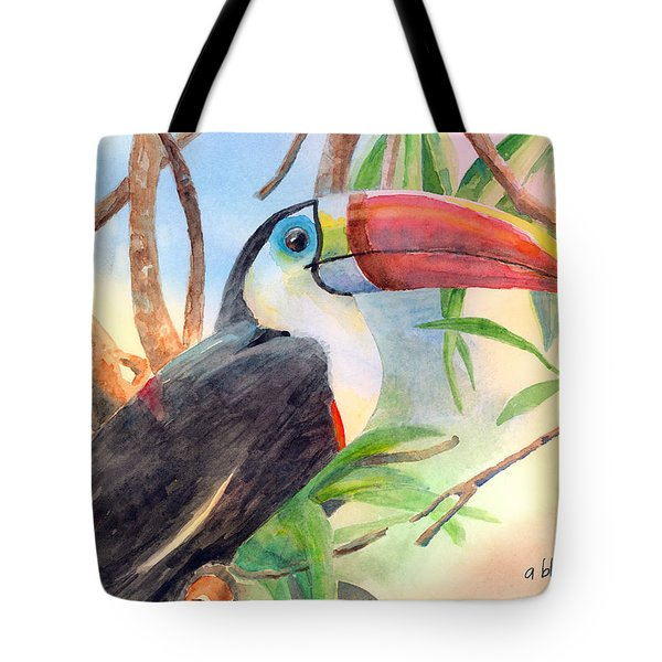 Red-billed Toucan Tote Bag by Arline Wagner