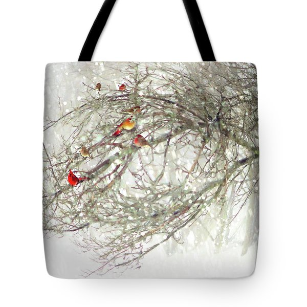 Red Bird Convention Tote Bag