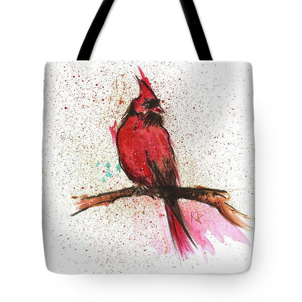 Red Bird Tote Bag by Remy Francis
