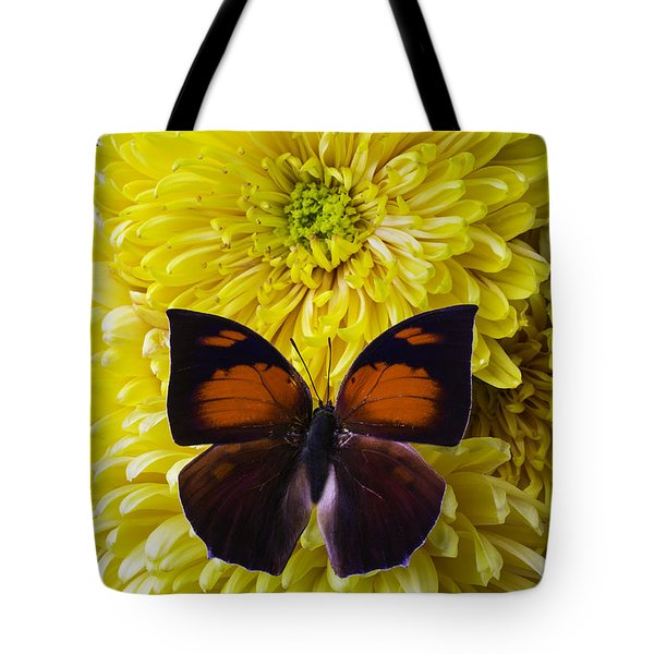 Red Black Butterfly Tote Bag