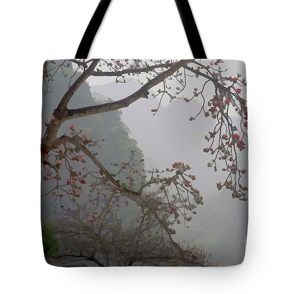 Red Blossoms  Vietnam  Tote Bag