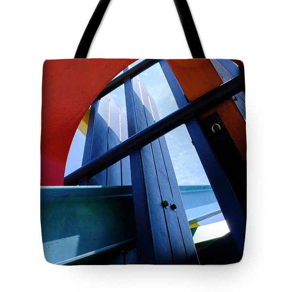 Red Blue And Yellow In Downtown Orlando Florida Tote Bag