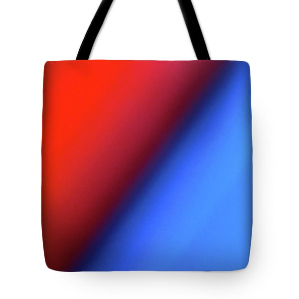 Tote Bag featuring the photograph Red Blue by CML Brown
