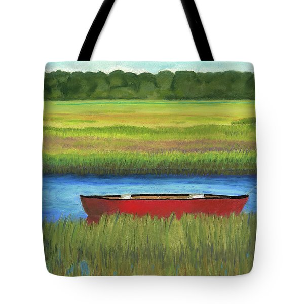 Red Boat - Assateague Channel Tote Bag