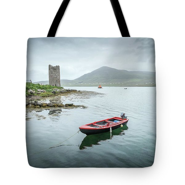 Red Boat Tote Bag by Marty Garland