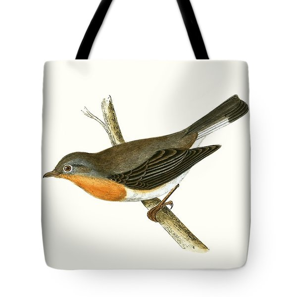 Red Breasted Flycatcher Tote Bag by English School