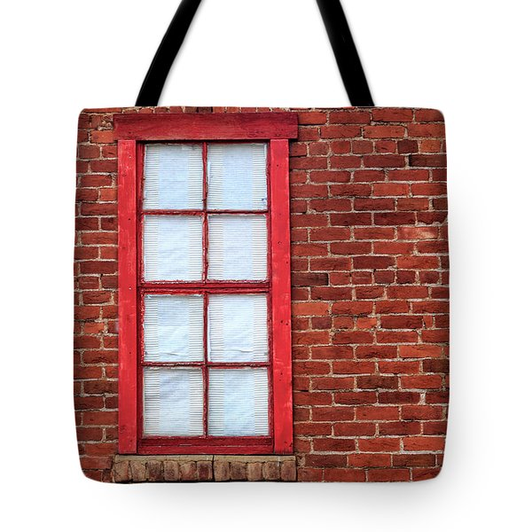 Tote Bag featuring the photograph Red Brick And Window by James Eddy