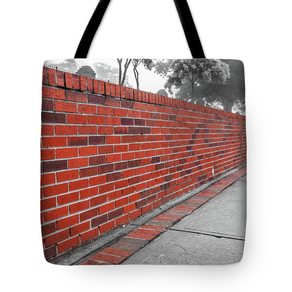 Tote Bag featuring the photograph Red Brick by Doug Camara