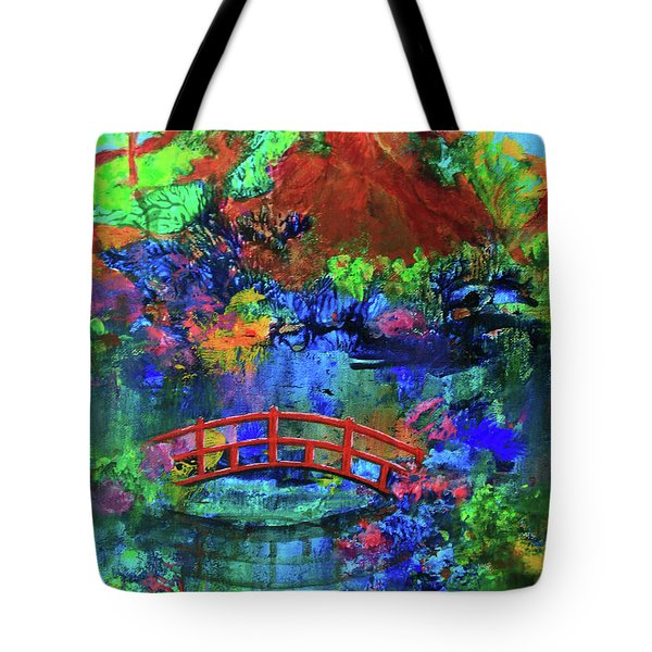 Red Bridge Dreamscape Tote Bag by Jeanette French