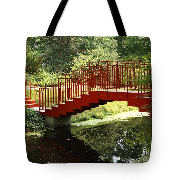 Red Bridge  Tote Bag by Erick Schmidt