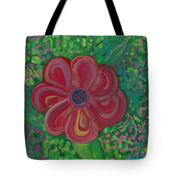 Tote Bag featuring the painting Red Brilliance by John Keaton