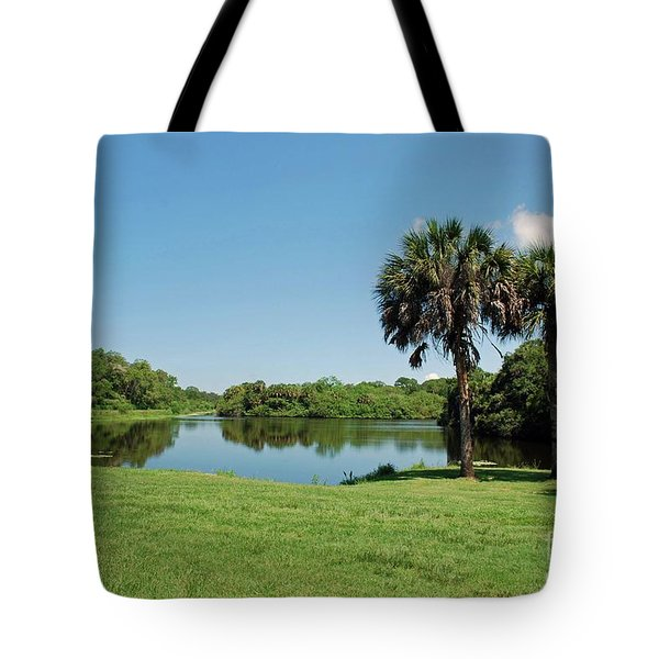 Tote Bag featuring the photograph Red Bug Slough by Gary Wonning