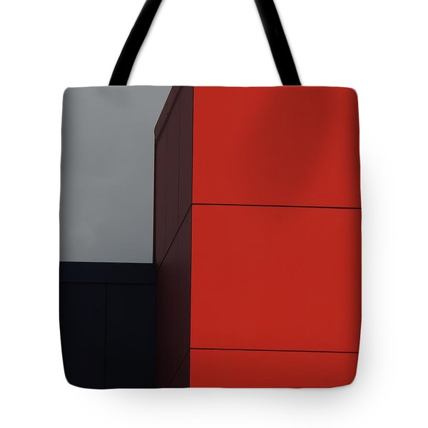 Red Building Abstract 1 Tote Bag
