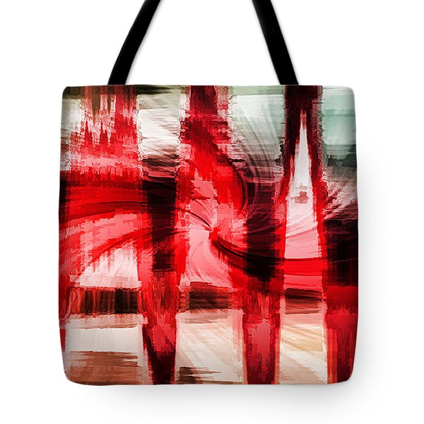 Red Buildings Tote Bag
