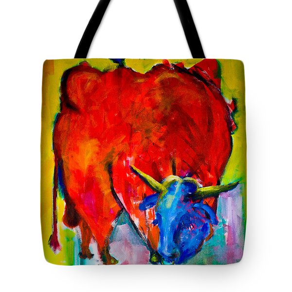 Red Bull With A Bird Tote Bag