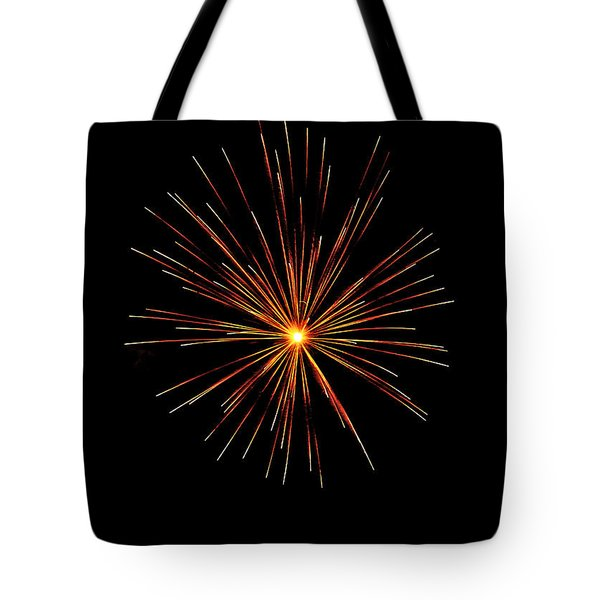 Red Burst Tote Bag by Phill Doherty