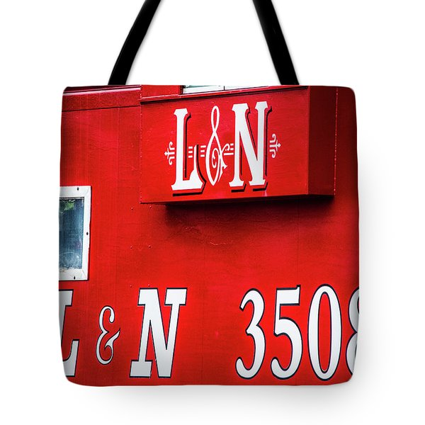 Tote Bag featuring the photograph Red Caboose by Parker Cunningham